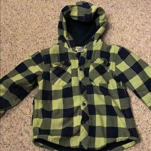 Gymboree Toddler Fleece-Lined Flannel Button-up